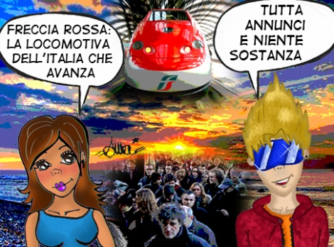 Trenitalia anti fan art - dal blog Pisa: odi et amo